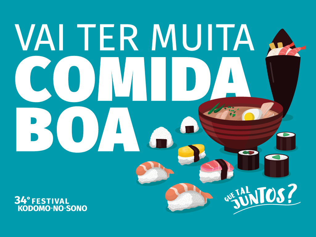 Festival Kodomo no Sono - Vai ter muita comida boa