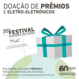 35º Festival Kodomo no Sono Doações de premios