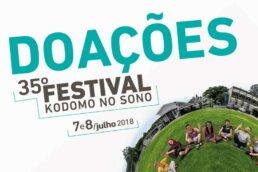 Doações 35º Festival Kodomo no Sono