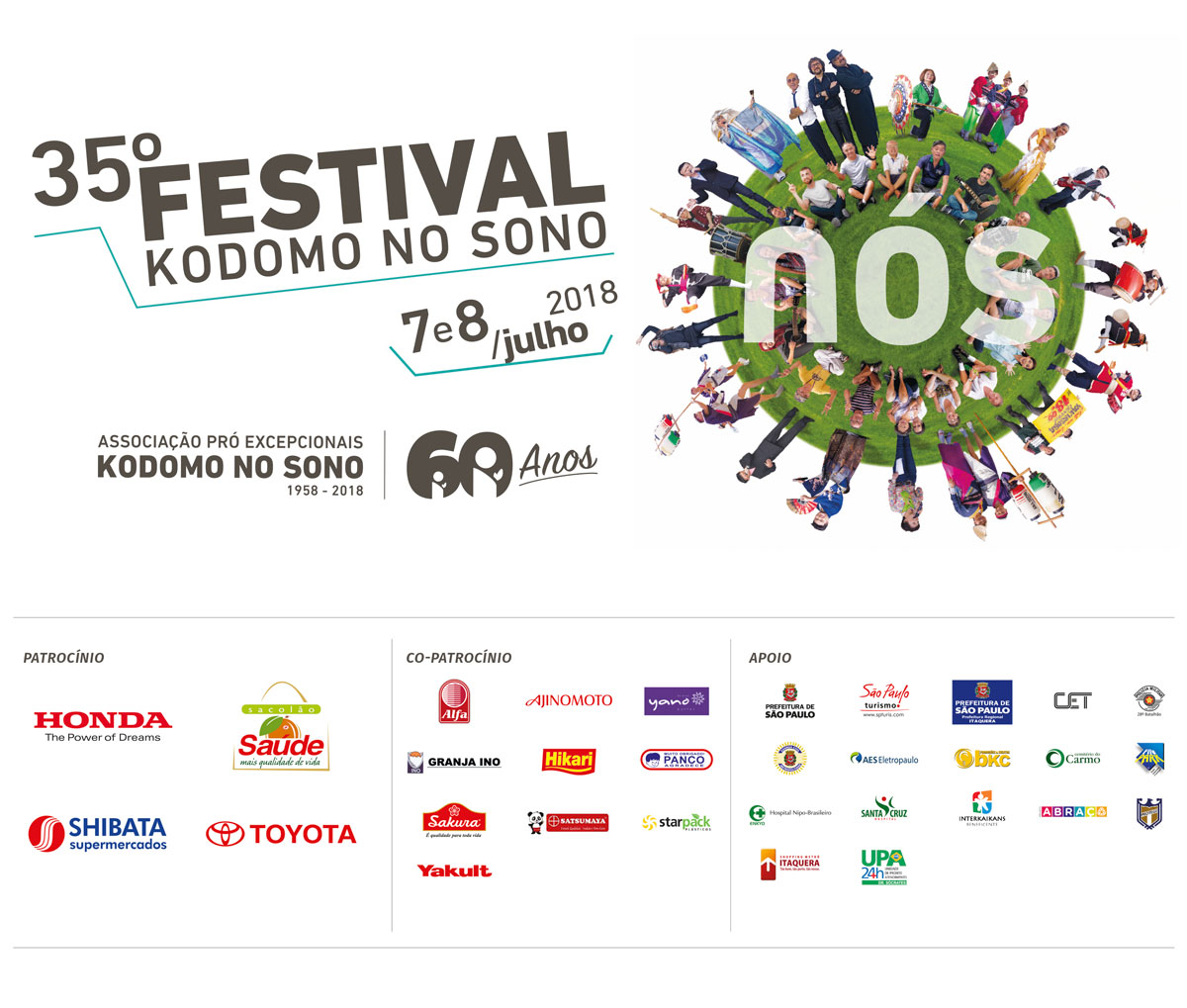 Agradecimento 35º Festival Kodomo no Sono