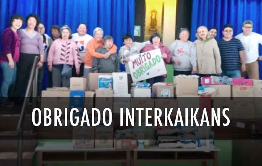 Doação Interkaikans Beneficente Kodomo no Sono