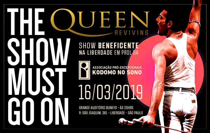 Show Beneficente Queen Reviving em prol da Kodomo no Sono
