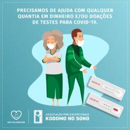 Doação de testes Covid-19 Kodomo no Sono
